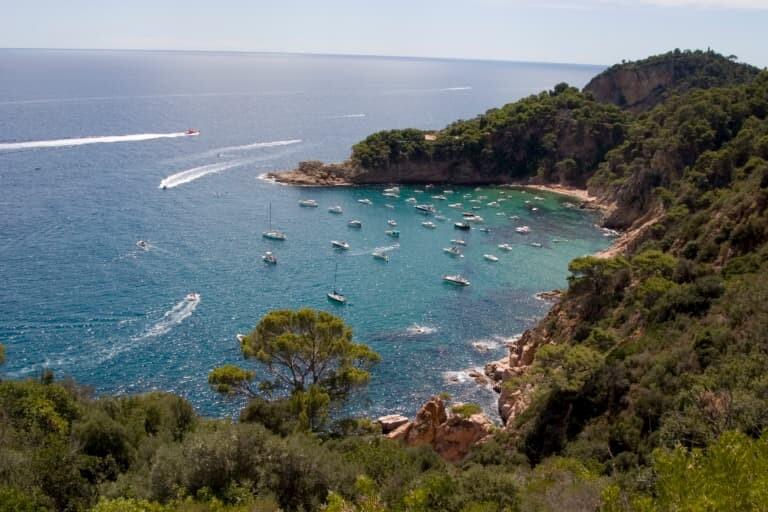 La escondida cala Futadera, cerca de Tossa de Mar