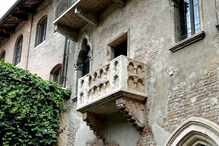 El balcón de Julieta en Verona.