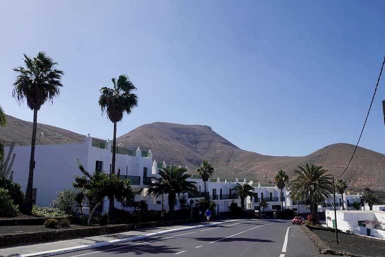 El pueblo de Yaiza en Lanzarote